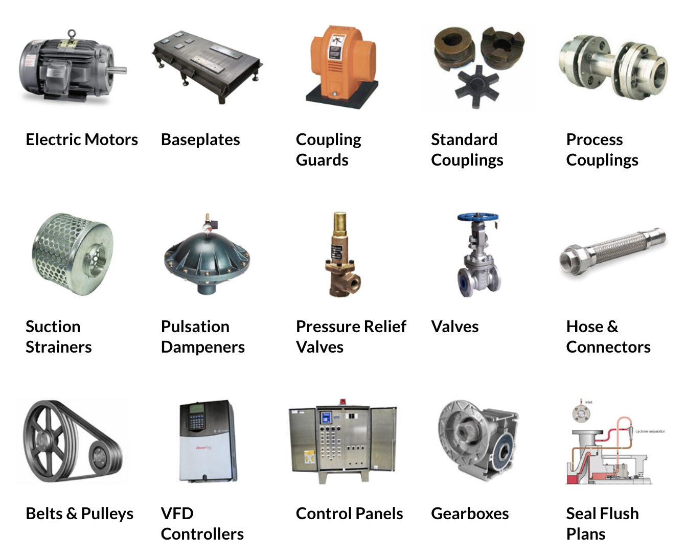 pump and fluid handling parts